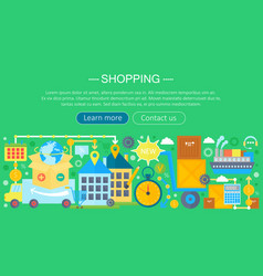 shopping online and e-commerce shopping concept vector image vector image