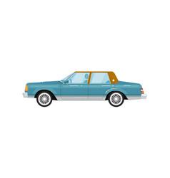 classic retro sedan isolated vector image