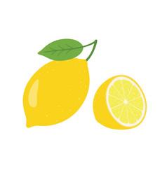 lemon fresh lemon fruits collection of vector image