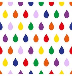 Colorful Rain White Background vector image
