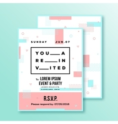 Event Party Wedding Invitation Card or Poster vector image vector image