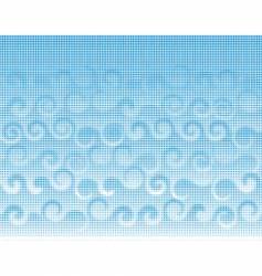 halftone curls vector image vector image