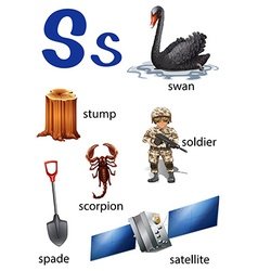 Things that start with the letter S vector image
