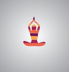 Yoga sign vector