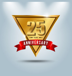 25 years anniversary celebration logotype vector image