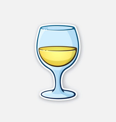 a glass white wine vector image
