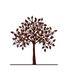 Abstract brown tree vector