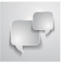 abstract design - speech bubble vector image