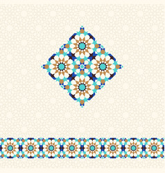 Abstract geometric background in arabic style vector