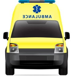 Ambulance car vector image