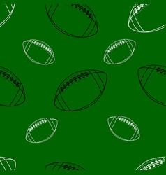 american football ball seamless pattern vector image