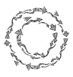 Arrows round frames vector