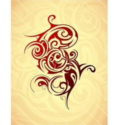 Artistic tattoo shape vector