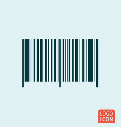 Barcode symbol bar code icon isolated vector