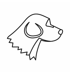Beagle dog icon outline style vector