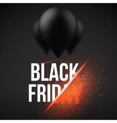 Black friday sale air balloon poster template vector