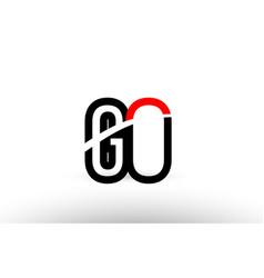 black white alphabet letter go g o logo icon vector image