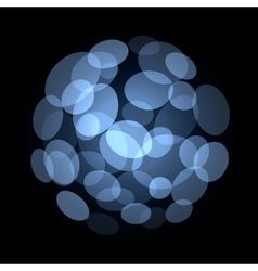 Blue Abstract Light Spot Background vector image