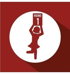 Boxing sport design vector