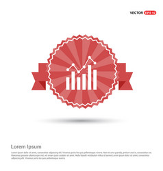 business graph icon - red ribbon banner vector image
