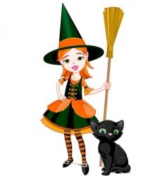 Cartoon halloween witch vector