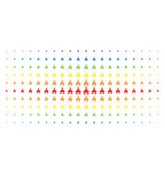 christian church spectral halftone grid vector image