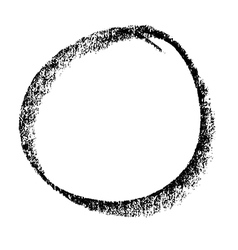 Circle doodle 01 vector image