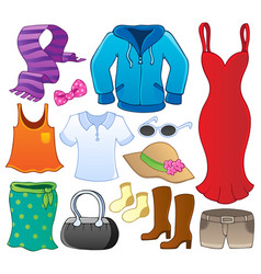 clothes theme collection 1 vector image