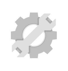 cogwheel with wrench vector image