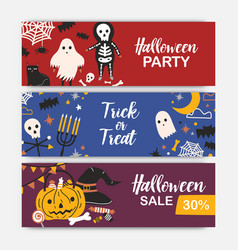 collection of horizontal holiday web banner vector image