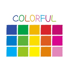 Colorful Color Tone without Code vector image