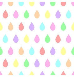 Colorful Pastel Rain White Background vector image