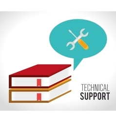 Customer service and technical support vector