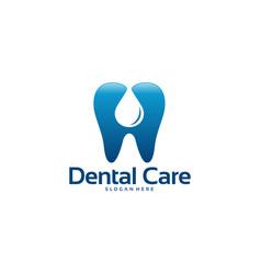 Dental care logo designs concept pure vector