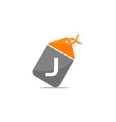 discount shop initial j vector image