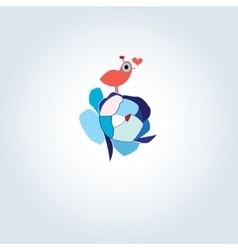 enamored bird vector image