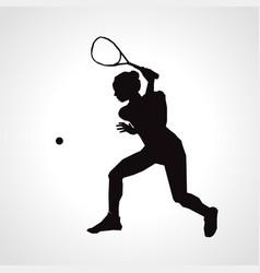 Female squash silhouette squash player vector