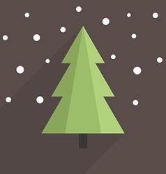 Flat Christmas tree vector image vector image