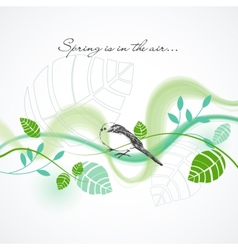 Fresh spring background vector