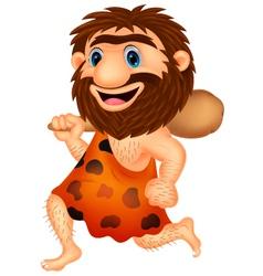 Funny caveman cartoon vector image