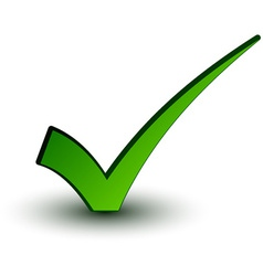 Green positive checkmark vector