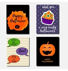 Halloween vertical banners greeting cards vector image