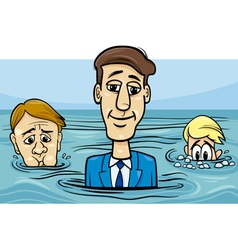 head above water saying cartoon vector image