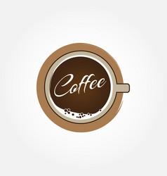 hot coffee cup logo sign symbol icon vector image