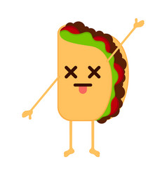 Isolated dead taco emote vector