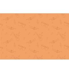 Jazz instruments seamless pattern contour vector