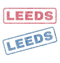 Leeds textile stamps vector