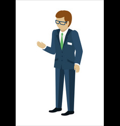 Man character in isometric projection vector