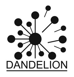 Meadow dandelion logo icon simple style vector