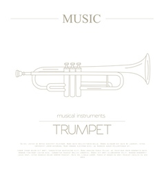 Musical instruments graphic template Trumpet vector image